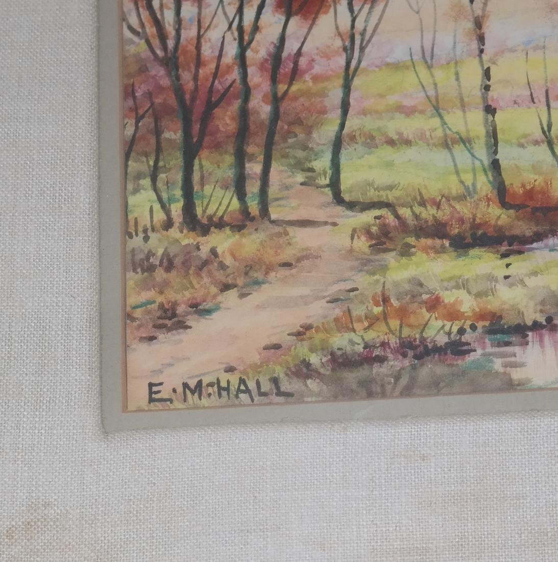 E.M. Hall - Field Landscape Watercolor - 3