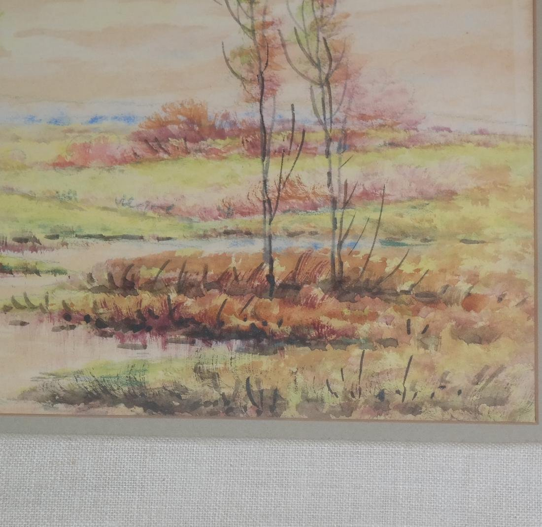 E.M. Hall - Field Landscape Watercolor - 4