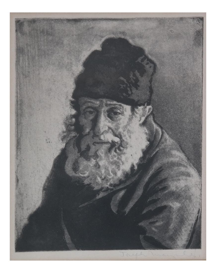 Joseph Margulies, Etching - Man W/ Hat