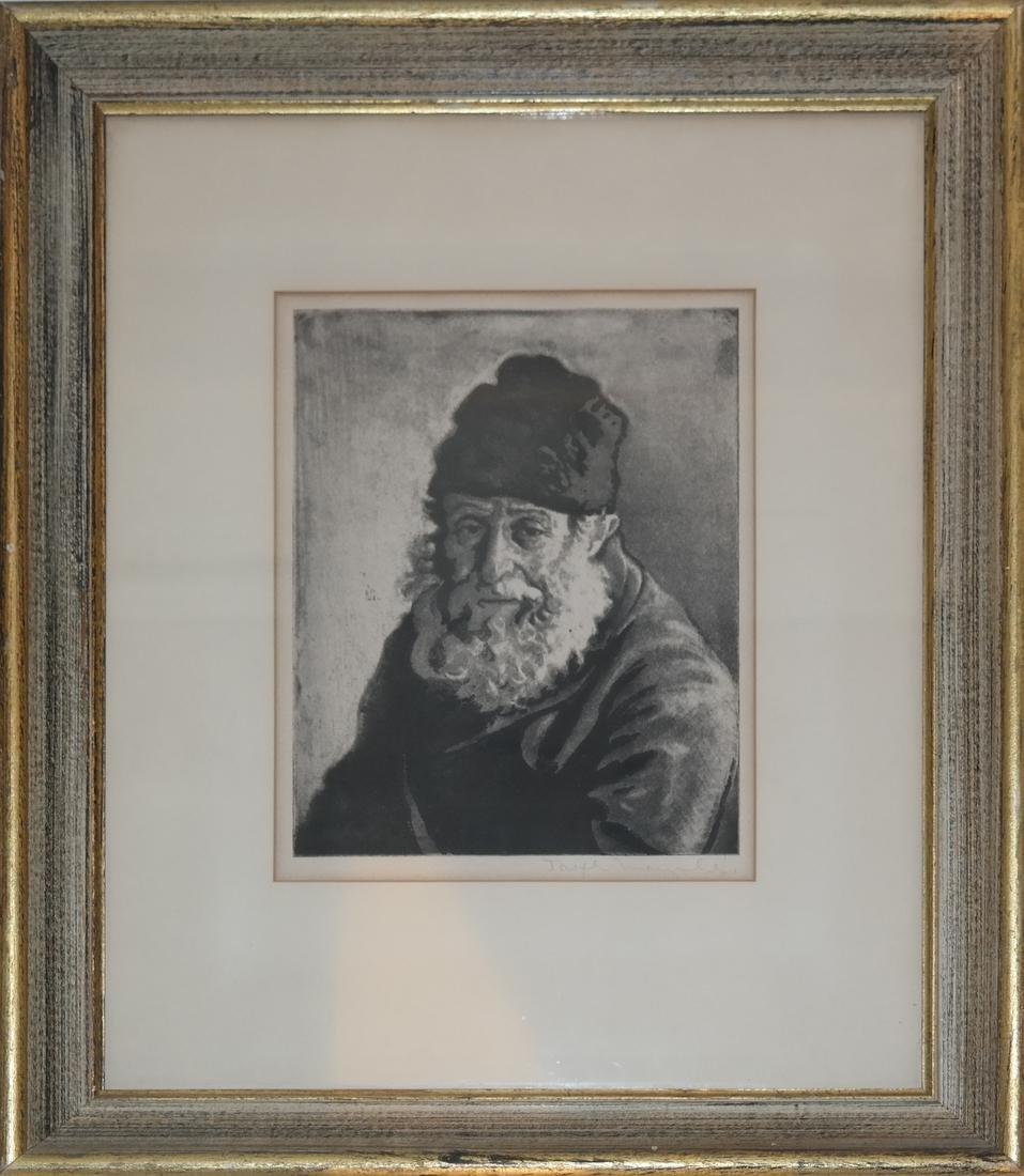 Joseph Margulies, Etching - Man W/ Hat - 2