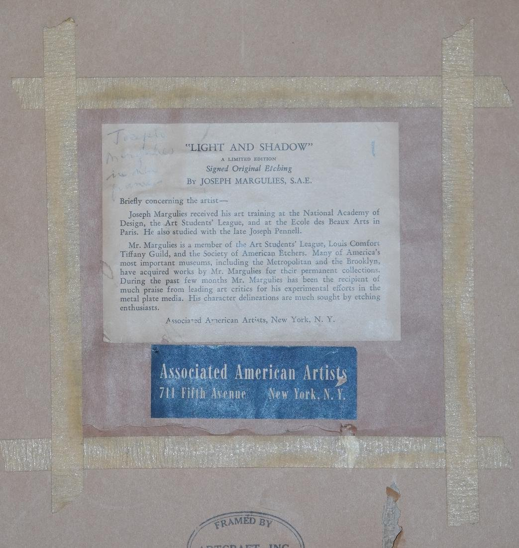 Joseph Margulies, Etching - Man W/ Hat - 5