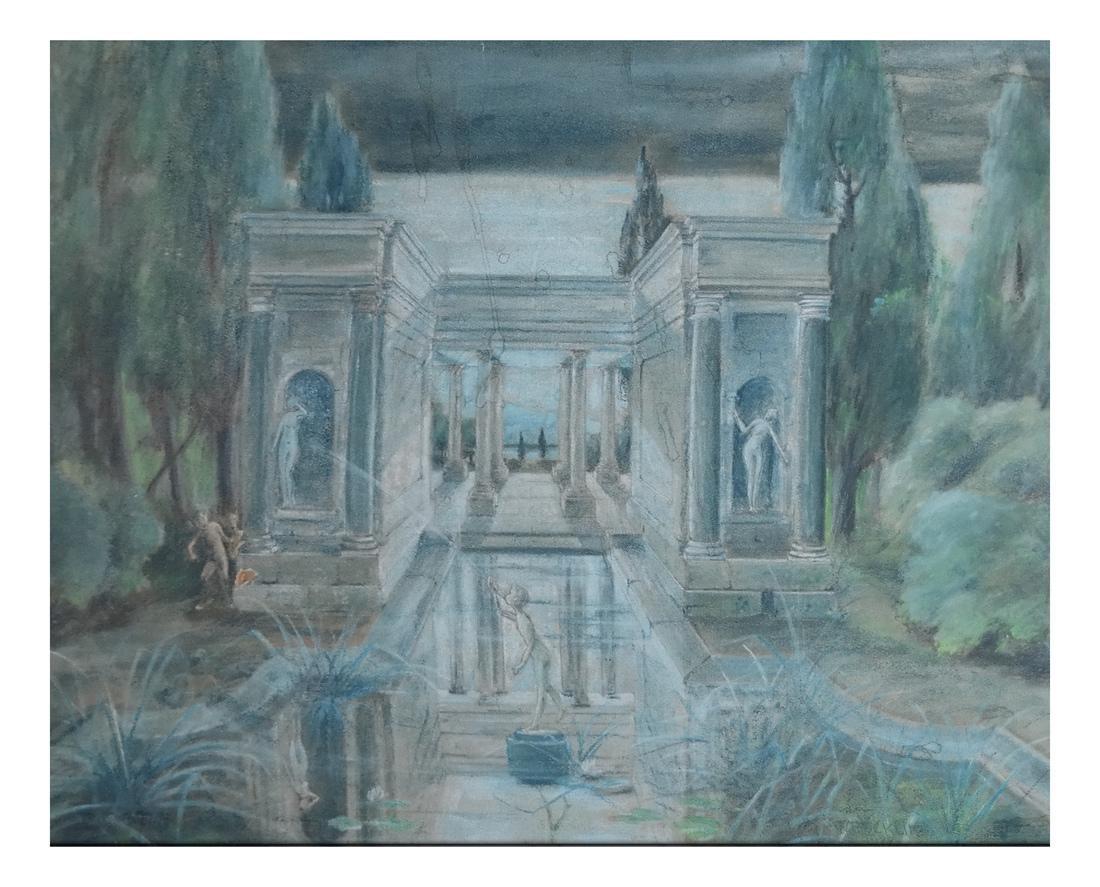 Mythological Courtyard Painting
