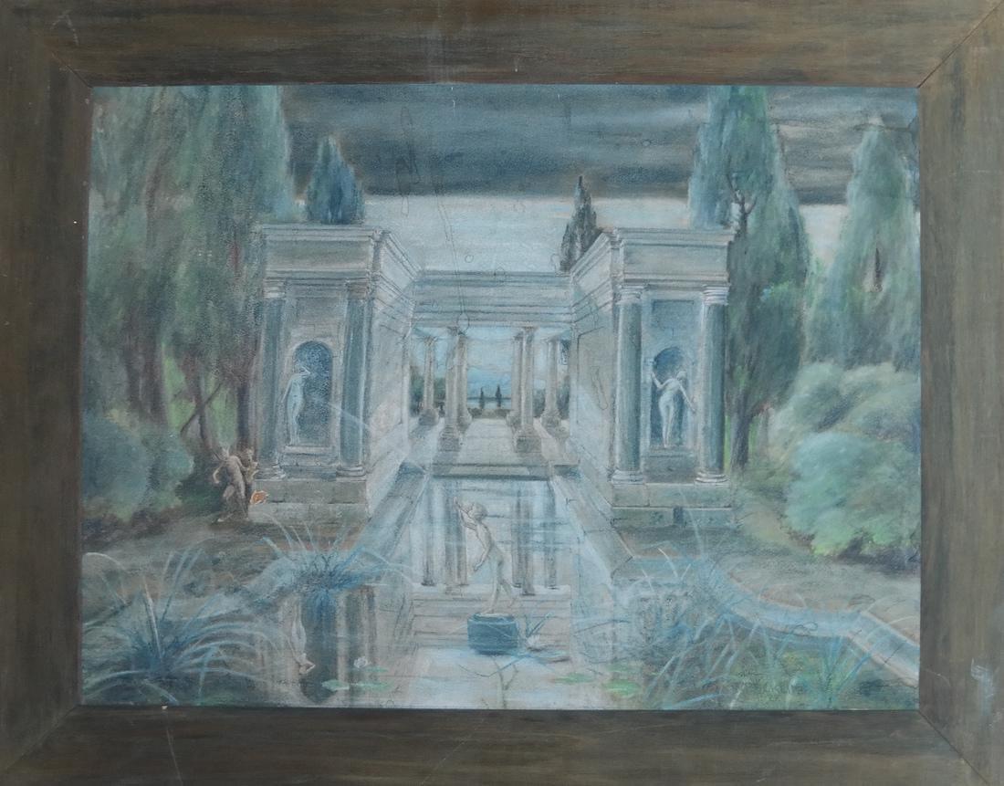 Mythological Courtyard Painting - 2