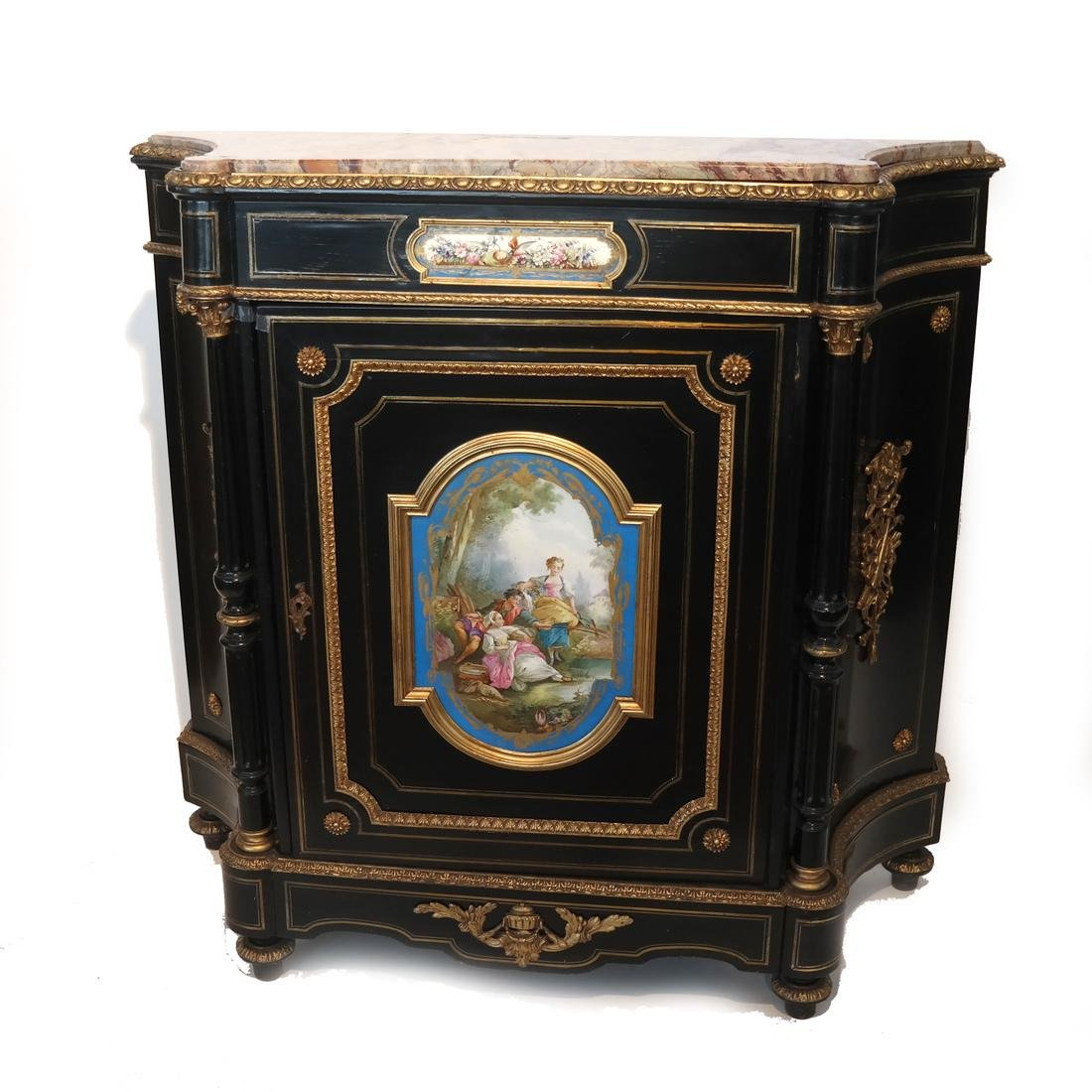 French Marble-Top Credenza/Cabinet