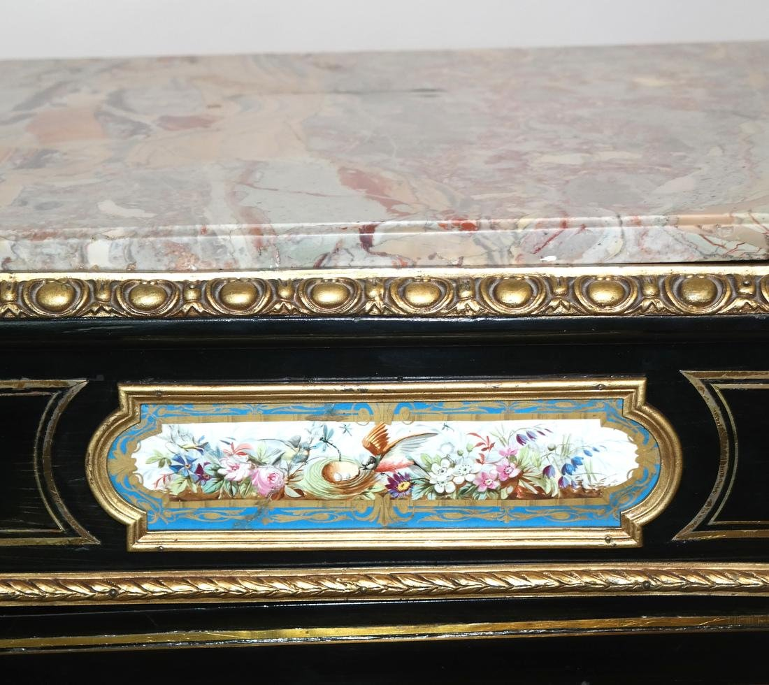 French Marble-Top Credenza/Cabinet - 3