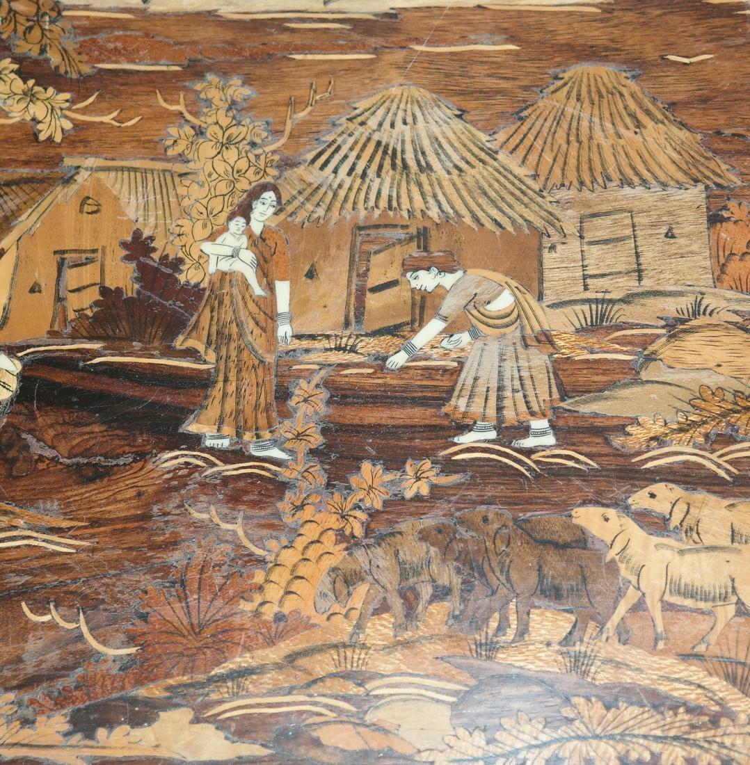 Antique Indian Exotic Wood Inlaid Chest/Cassone - 7