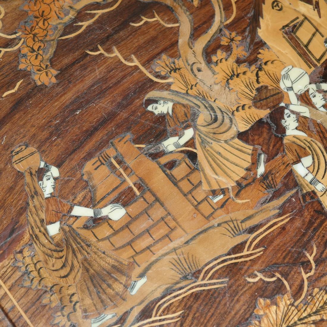 Antique Indian Exotic Wood Inlaid Chest/Cassone - 8