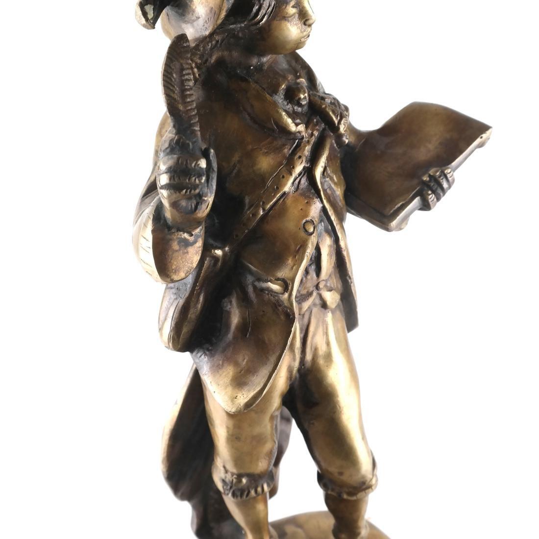 Filled Brass Sculpture of a Scribe - 7