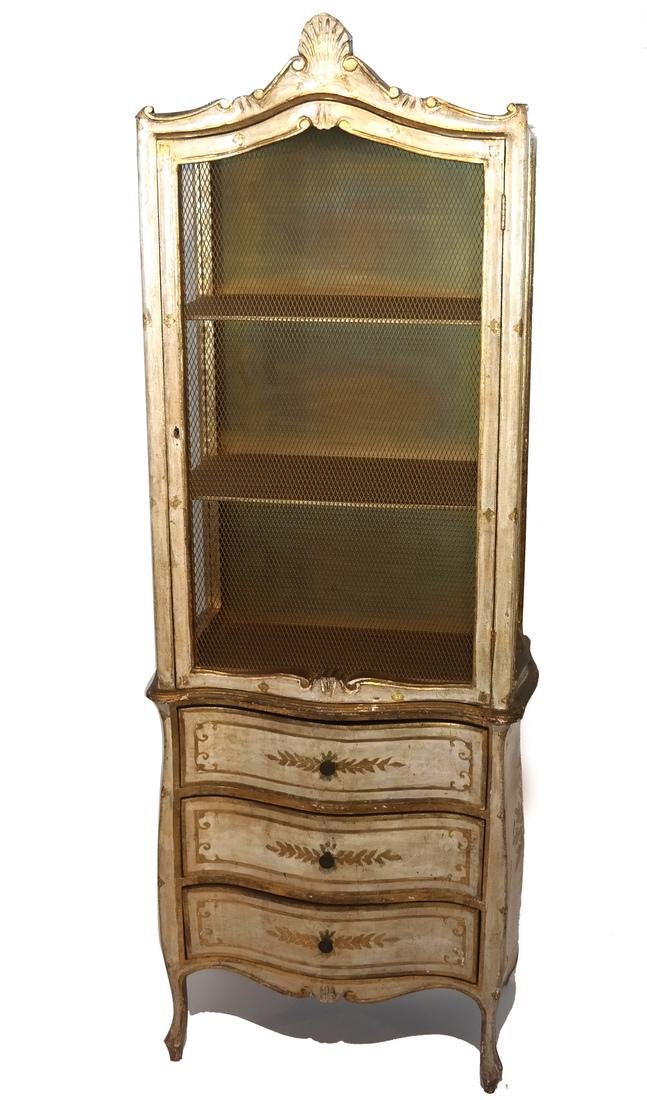 Italian Venetian-Style Curio Cabinet