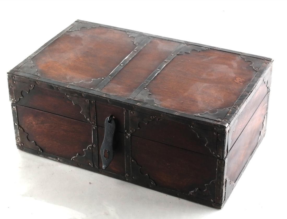 Wood Brass Bound Box
