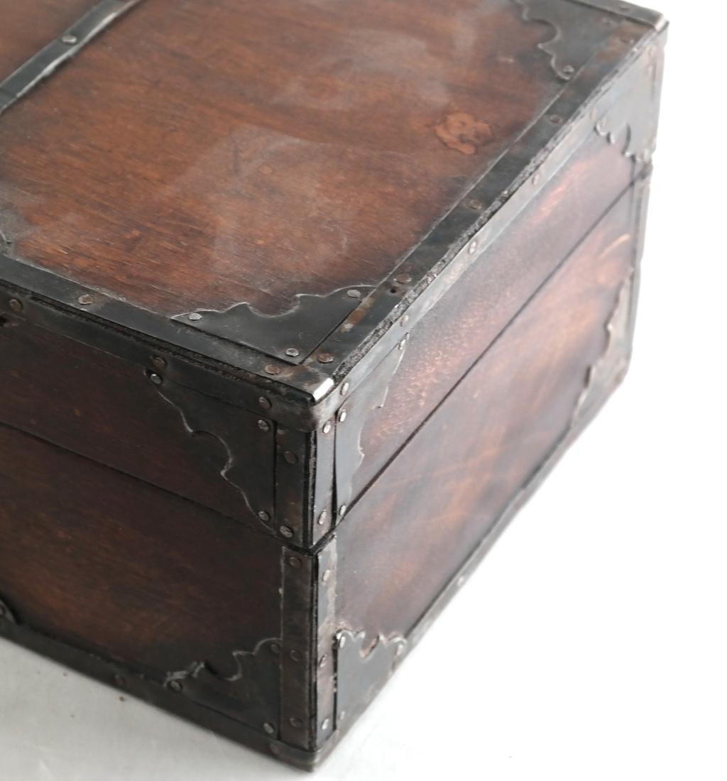 Wood Brass Bound Box - 2
