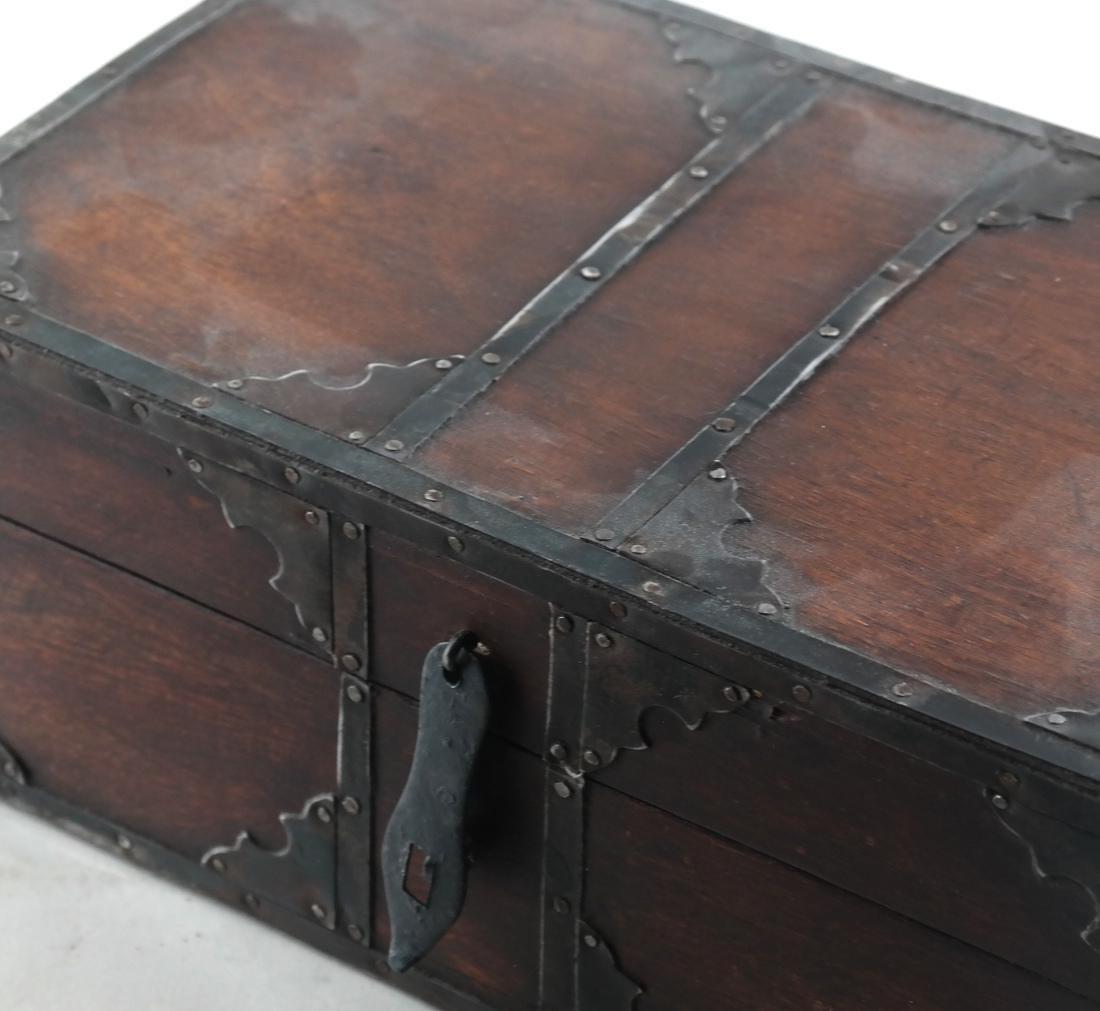 Wood Brass Bound Box - 3
