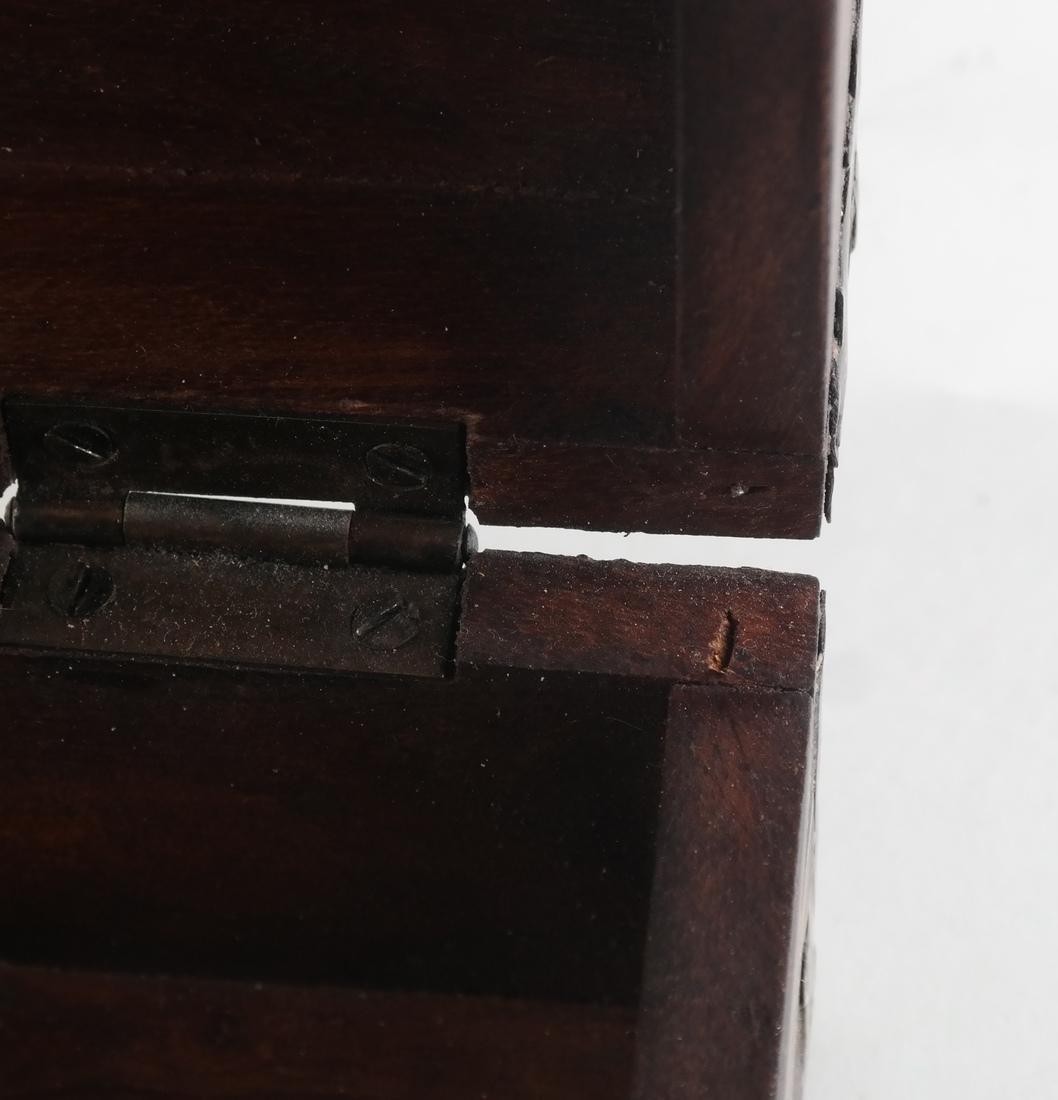 Wood Brass Bound Box - 4