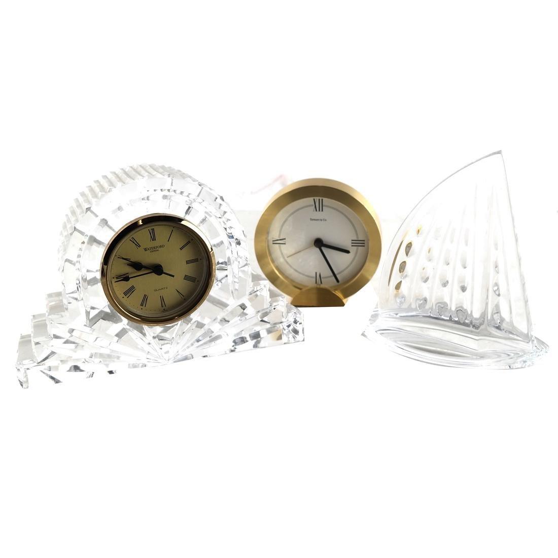 Sailboat Sculpture, 2 Clocks (One Glass)
