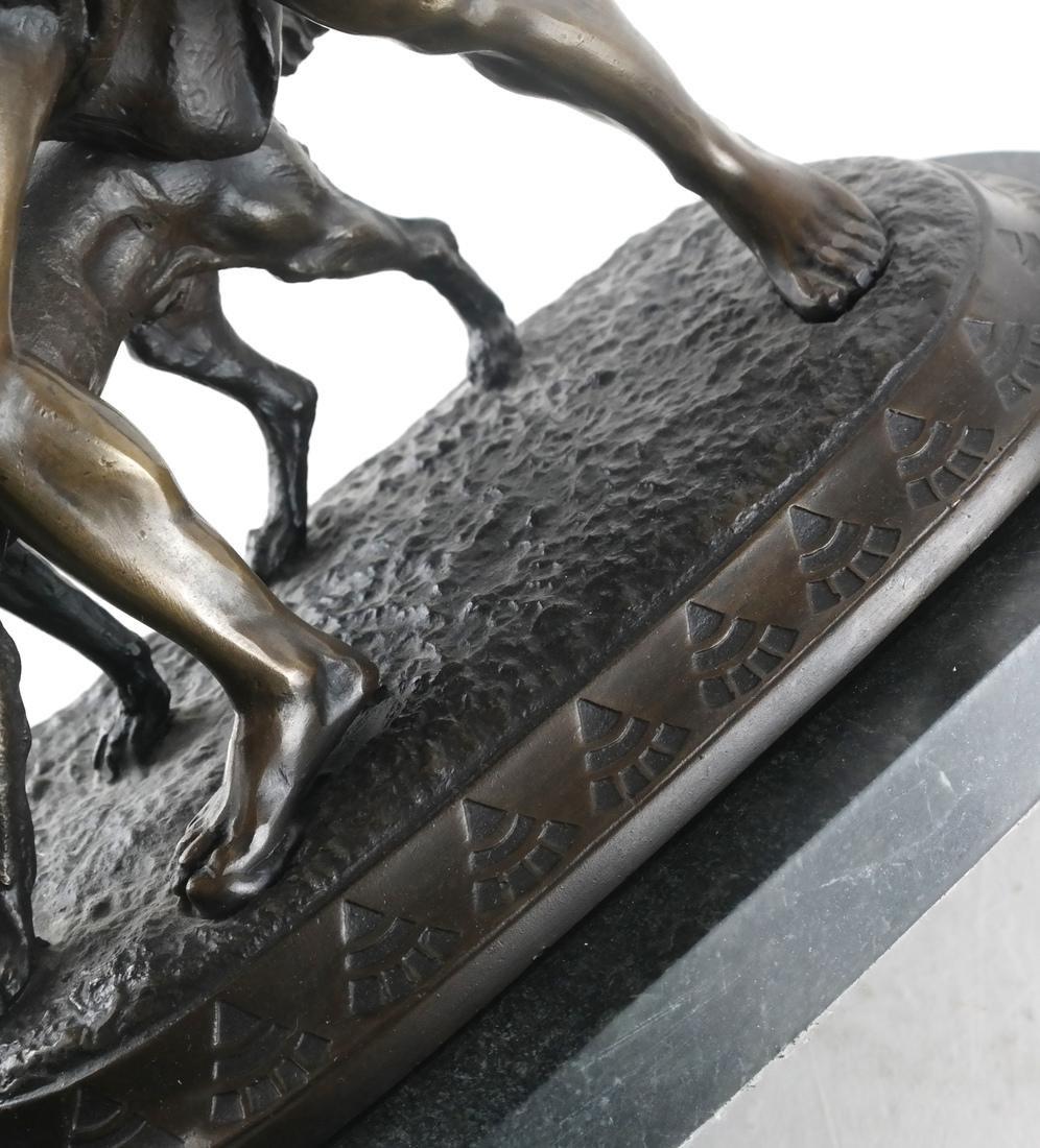 Reproduction Bronze Group, Man & Dog - 6