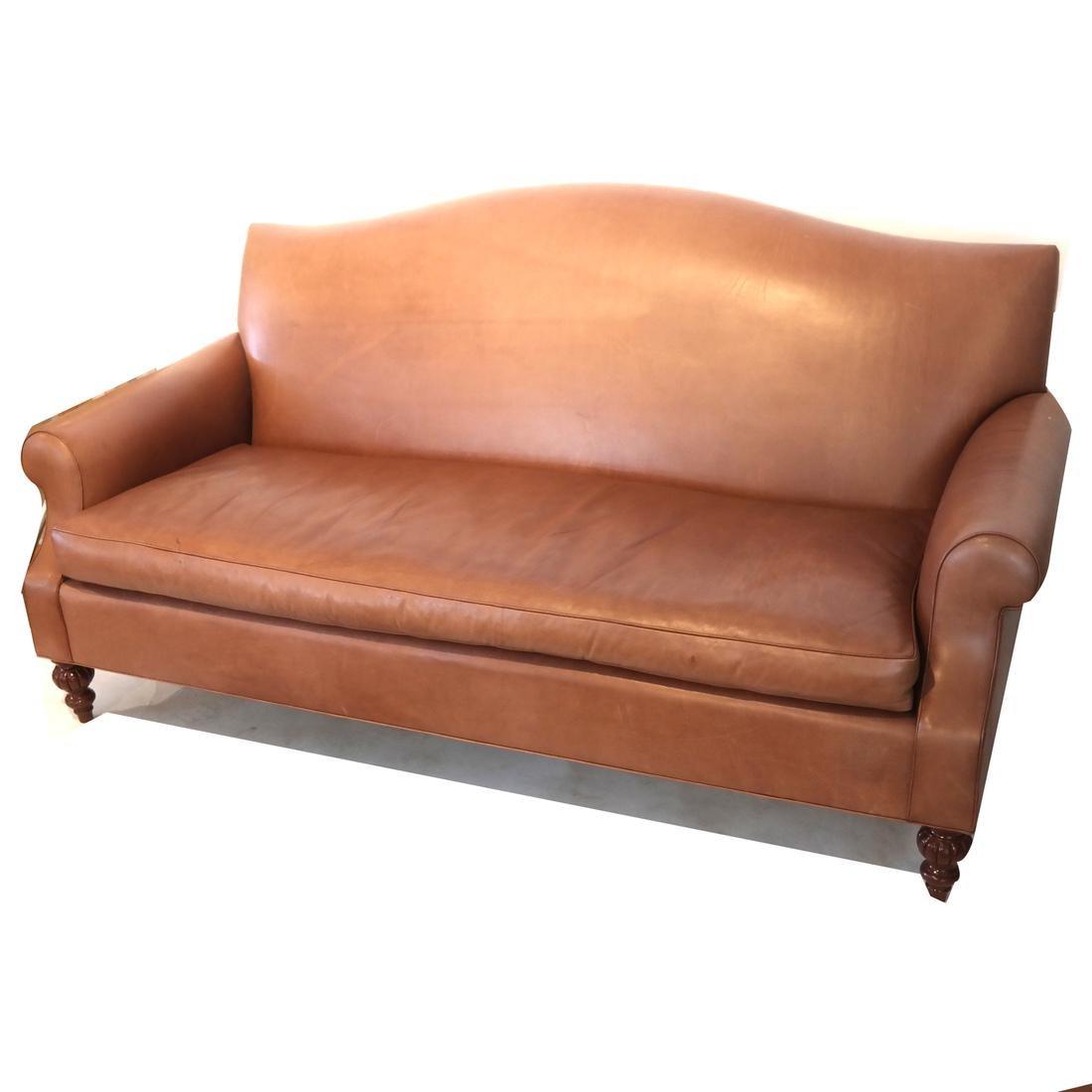 Ray Murray Leather Sofa