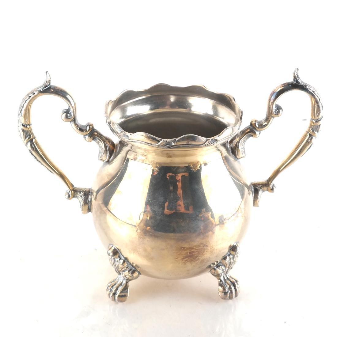 Sterling Silver English 5-Piece Tea Set - 4