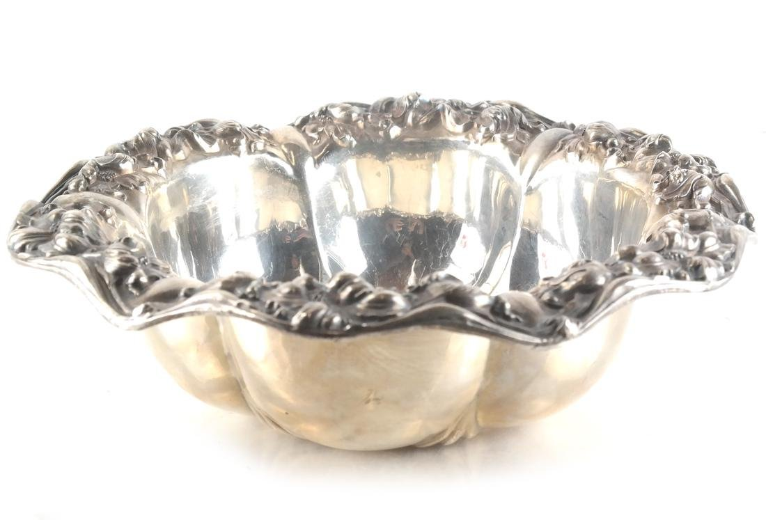 Sterling Silver Unger Bros. Repousse Bowl - 2