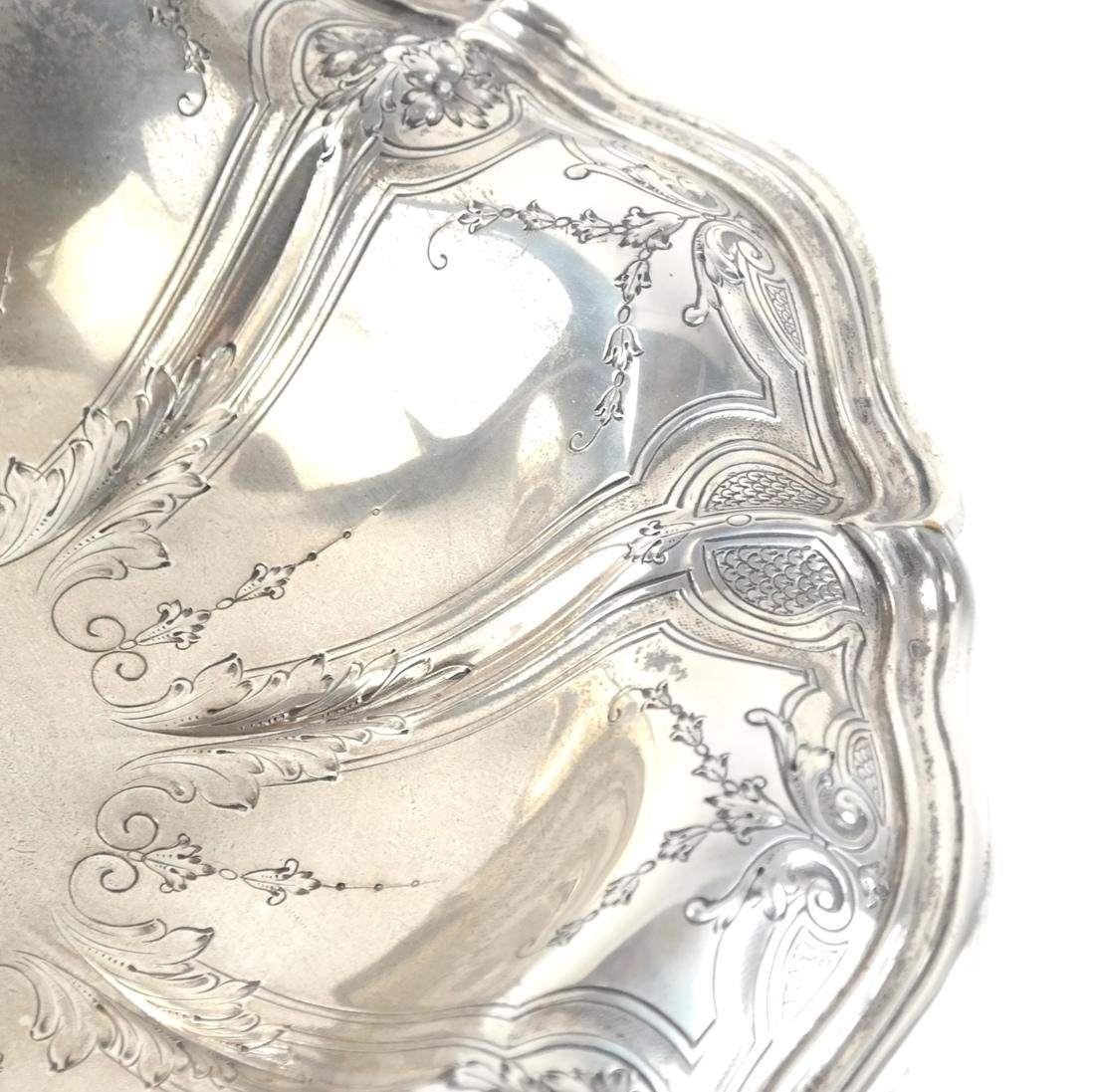 Sterling Silver Incised-Relief Compote - 3
