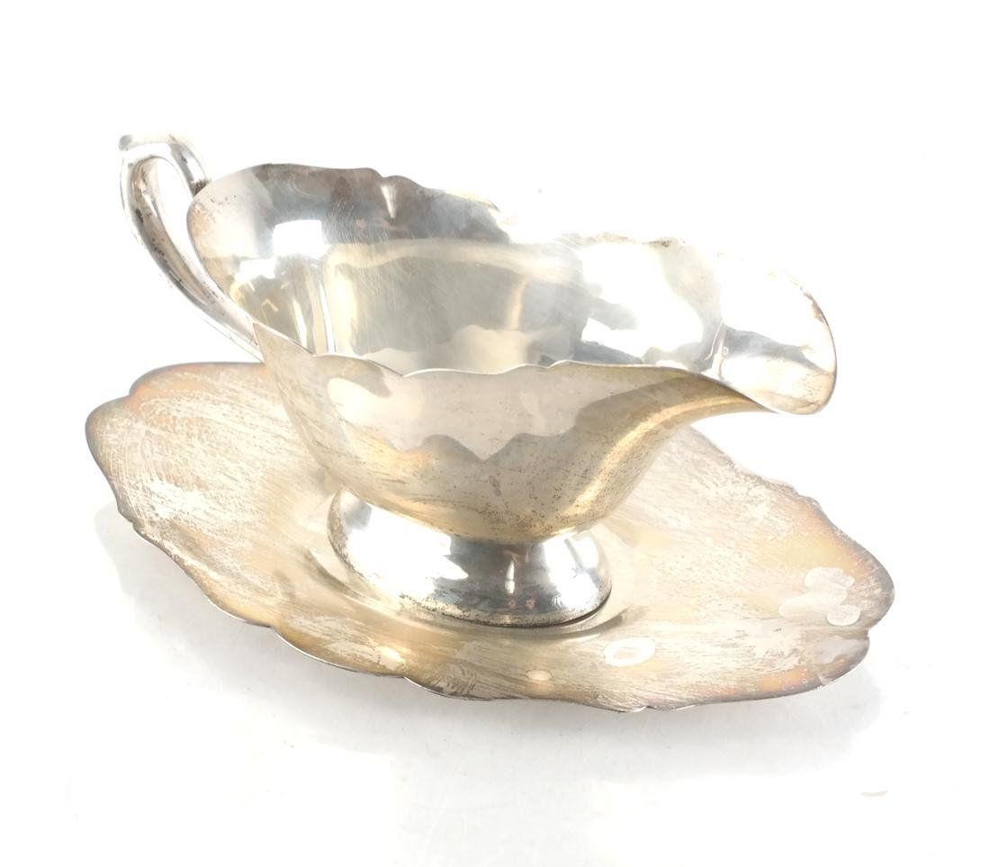 Sterling Silver Two-Part Gravy Boat