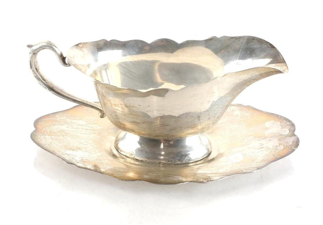 Sterling Silver Two-Part Gravy Boat - 2