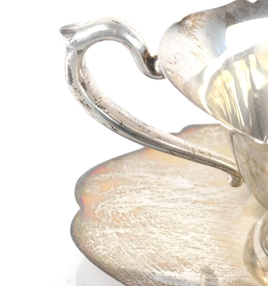 Sterling Silver Two-Part Gravy Boat - 3