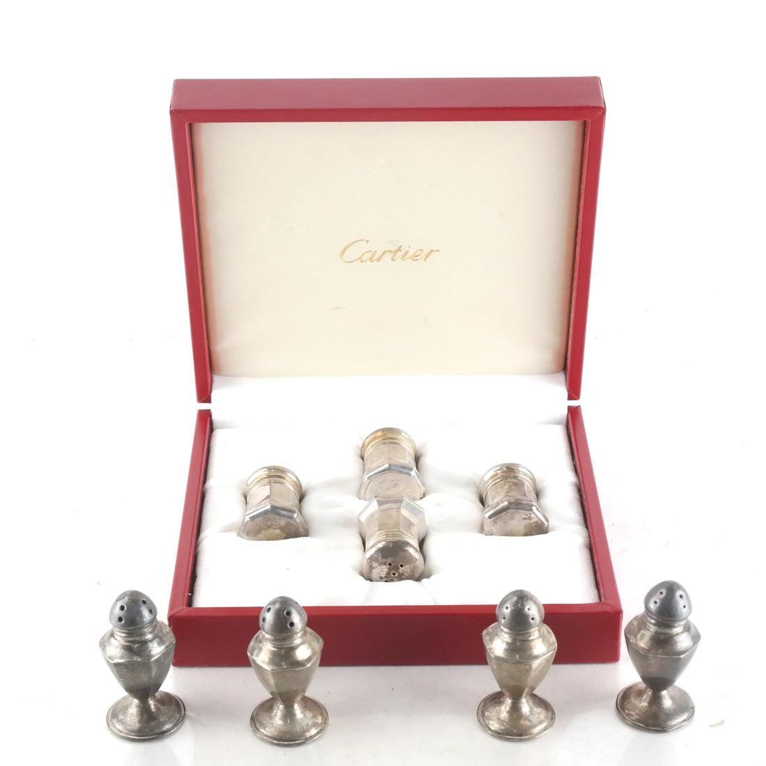 8 Sterling Silver Casters - Cartier, Others