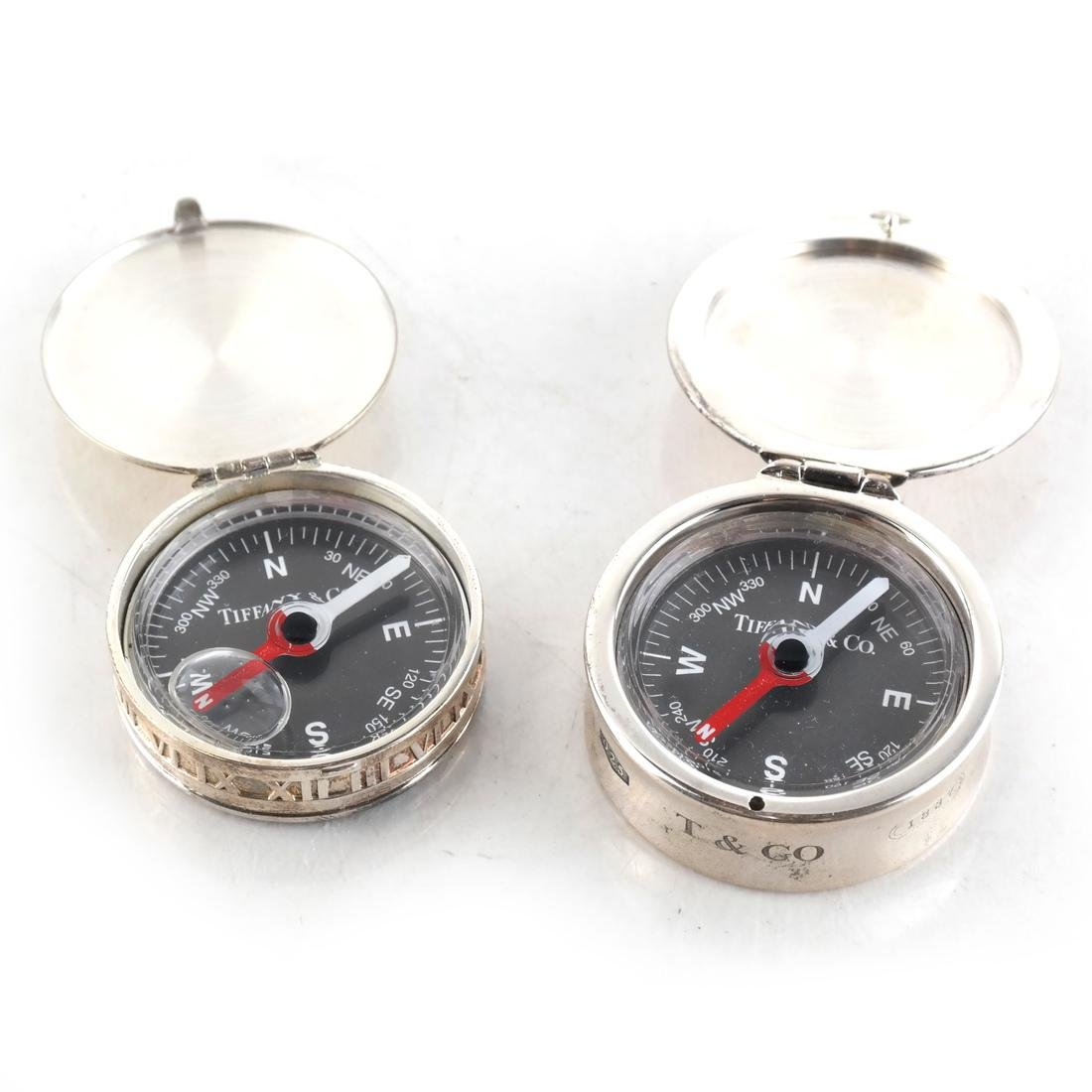 Sterling Silver 2 Compasses Tiffany & Co.