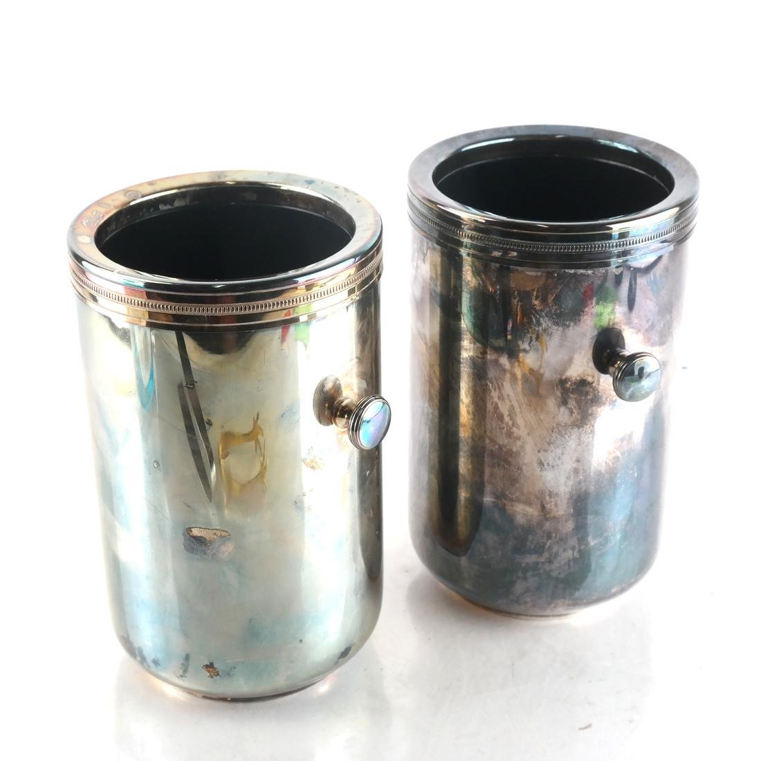 2 Silver-Plated Wine Coolers by Gorham - 2