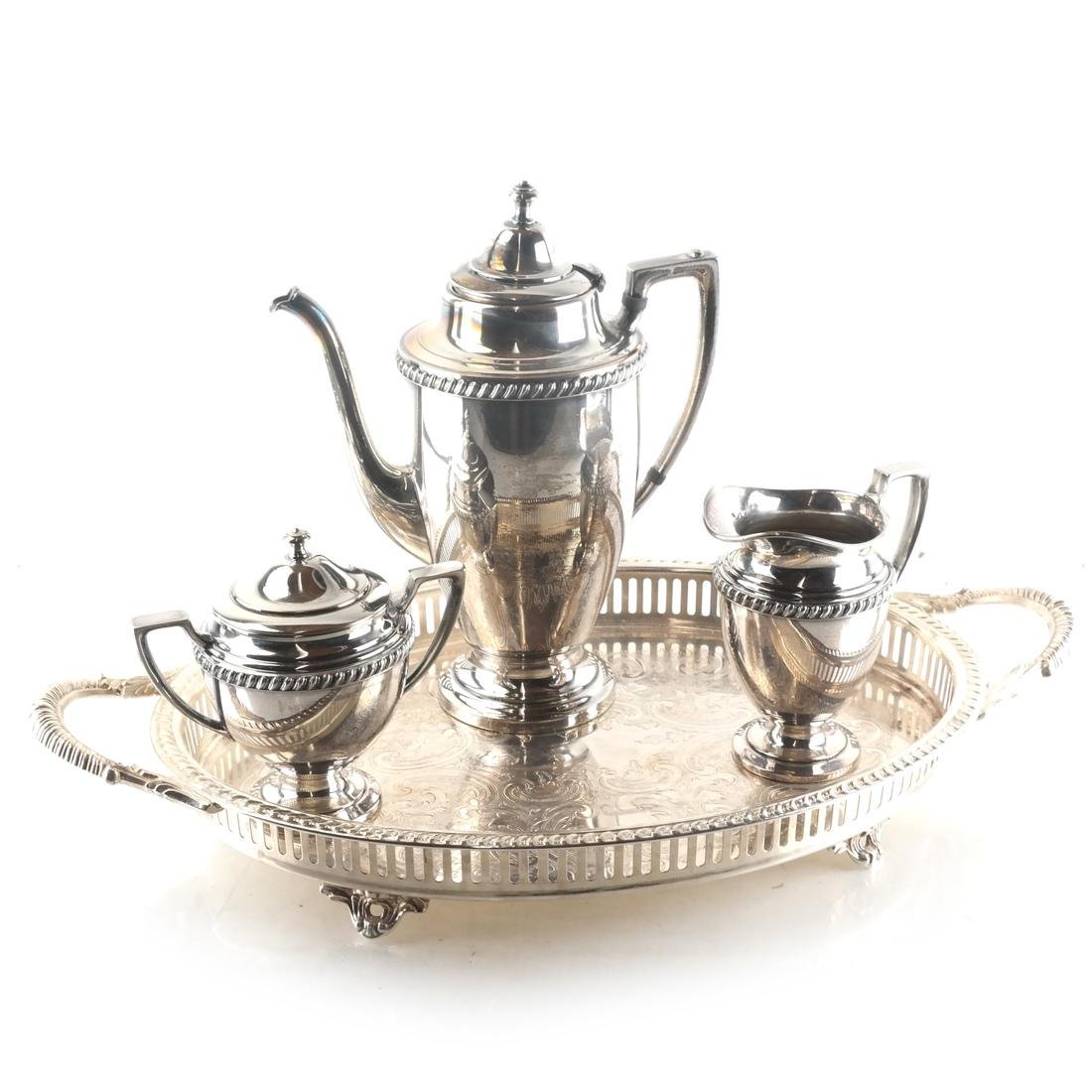 Four Piece Silver Plate Tea Service
