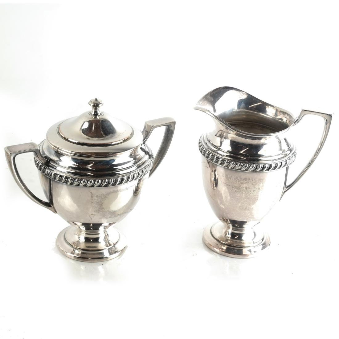 Four Piece Silver Plate Tea Service - 3