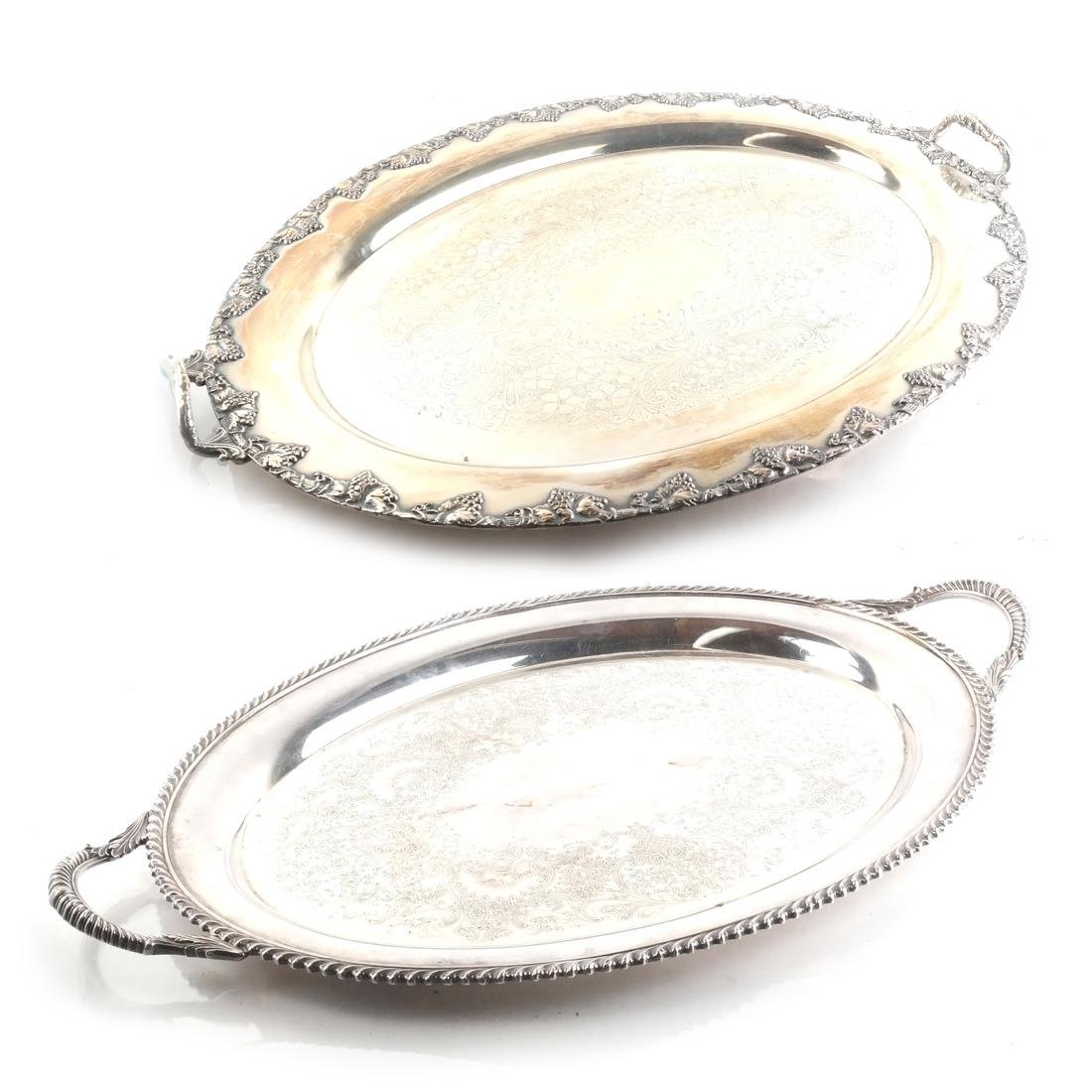 Two Silver-Plate Trays