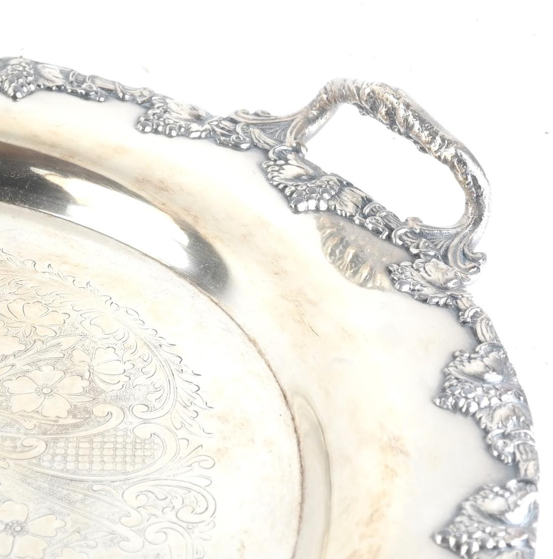 Two Silver-Plate Trays - 6