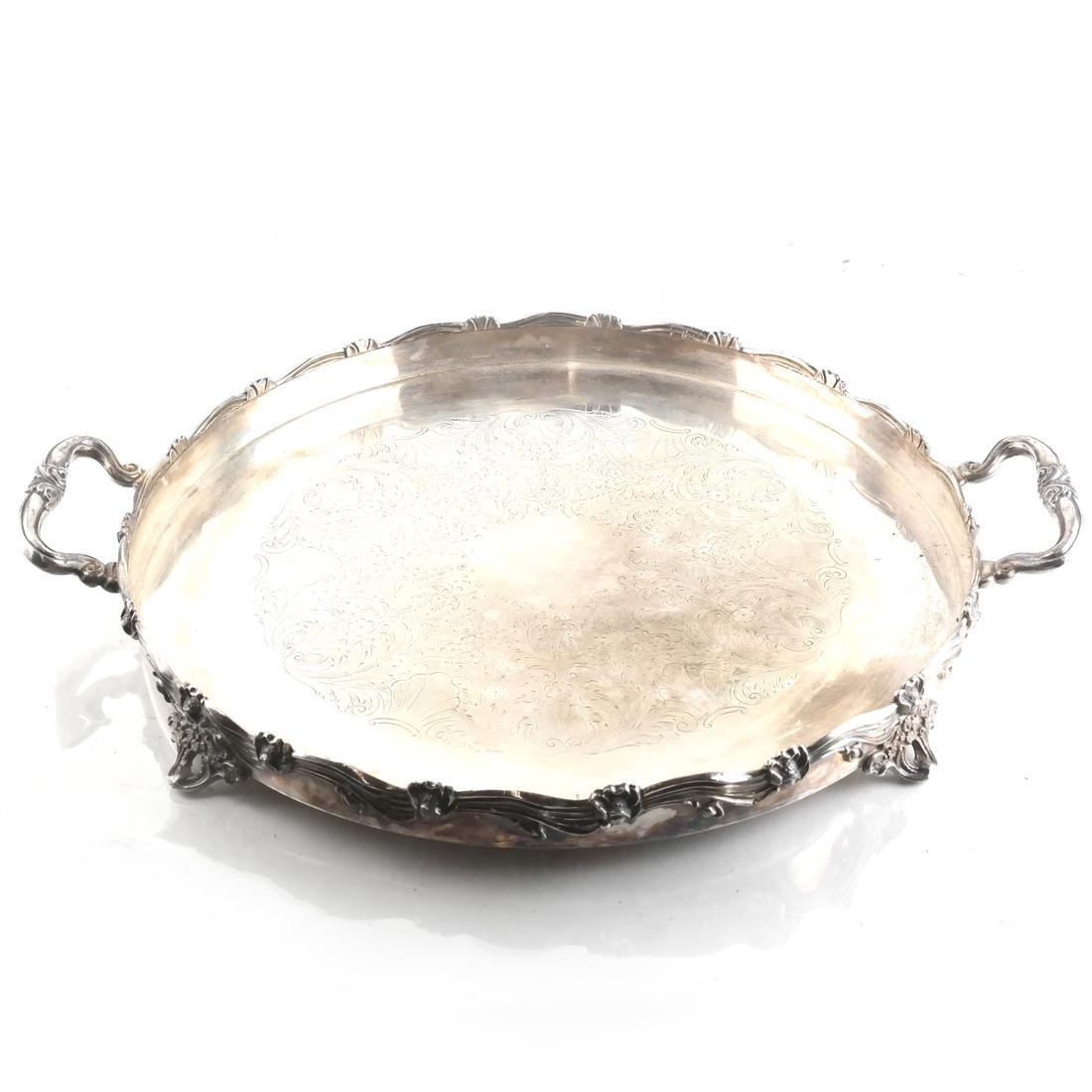 Two Silver-Plated Footed Trays - 2