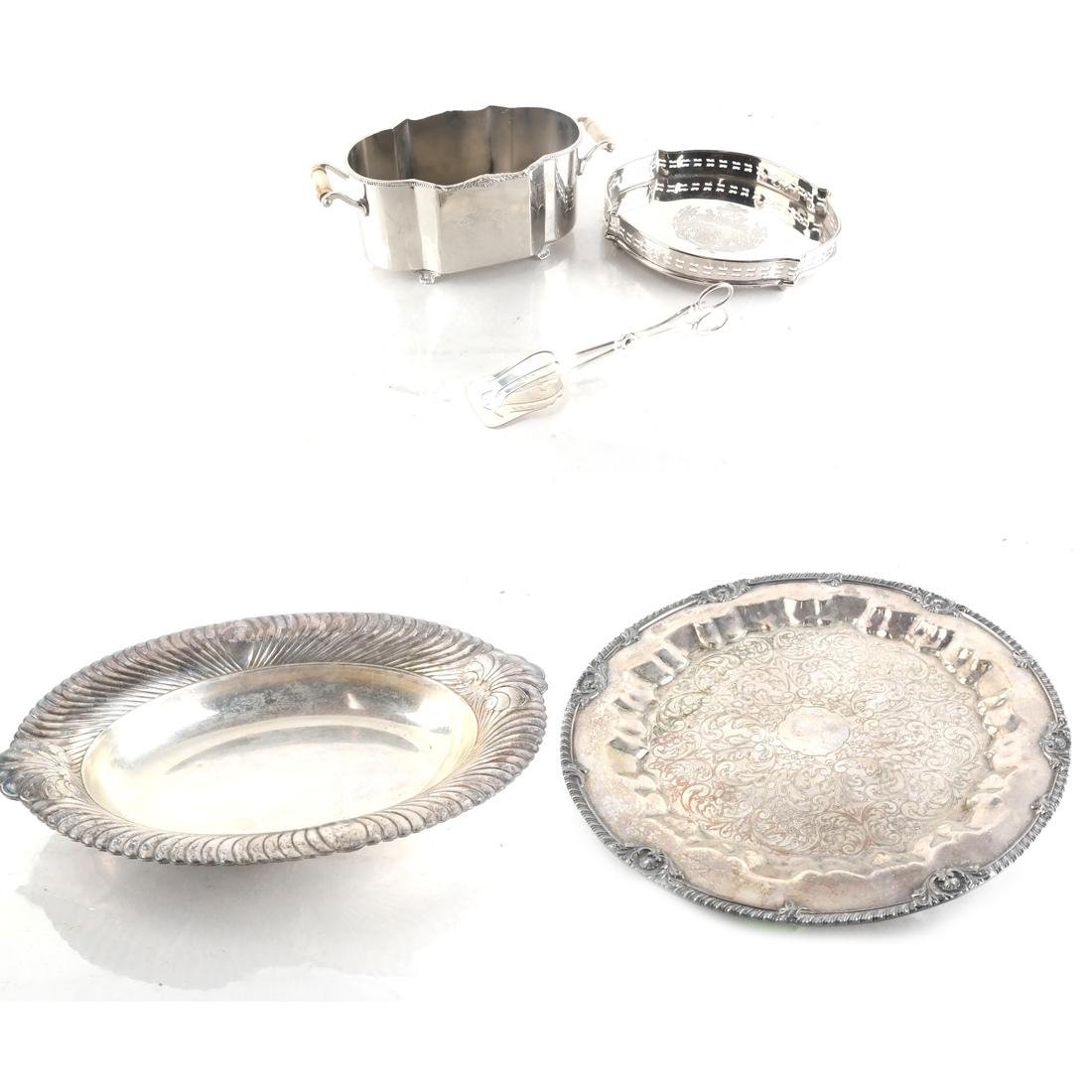 Five Silver-Plated Objects