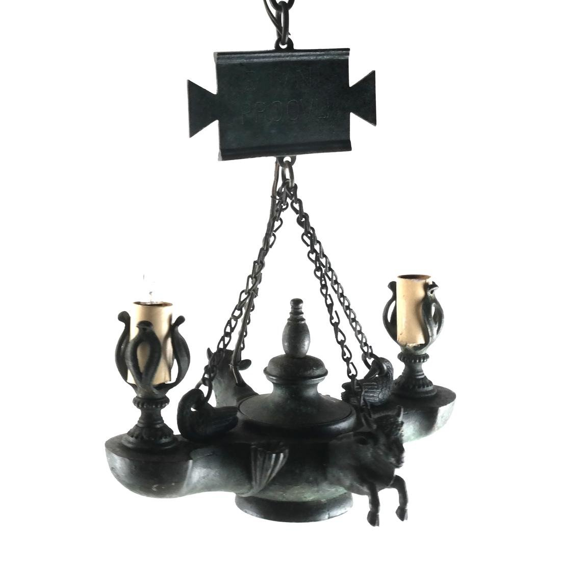 Ancient Roman-Style Grand Tour Lamp