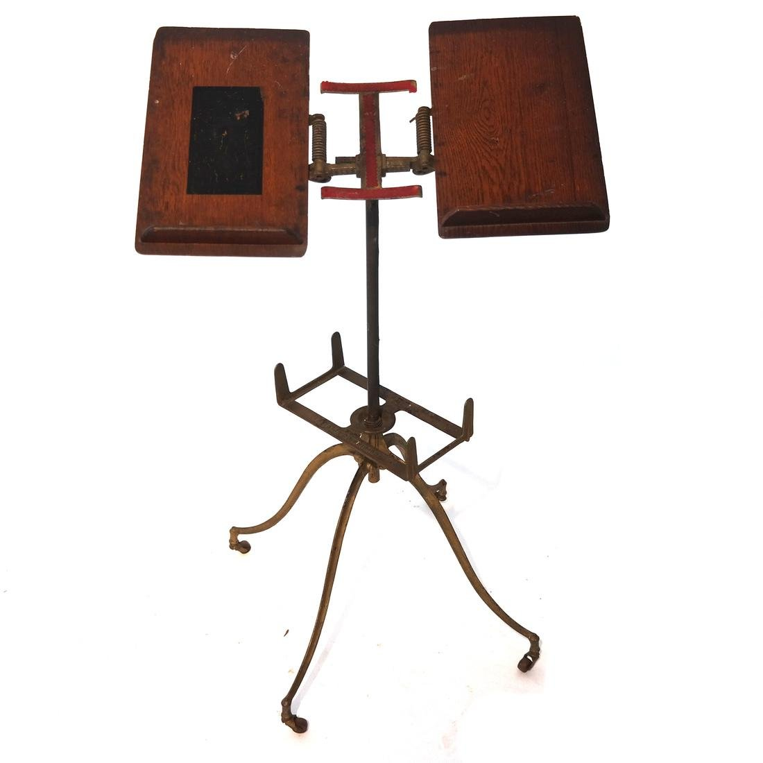 Antique Iron & Wood Bookstand