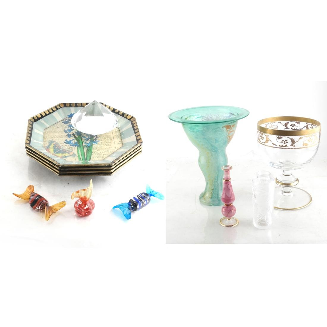 12 Glass Articles, Including Lalique