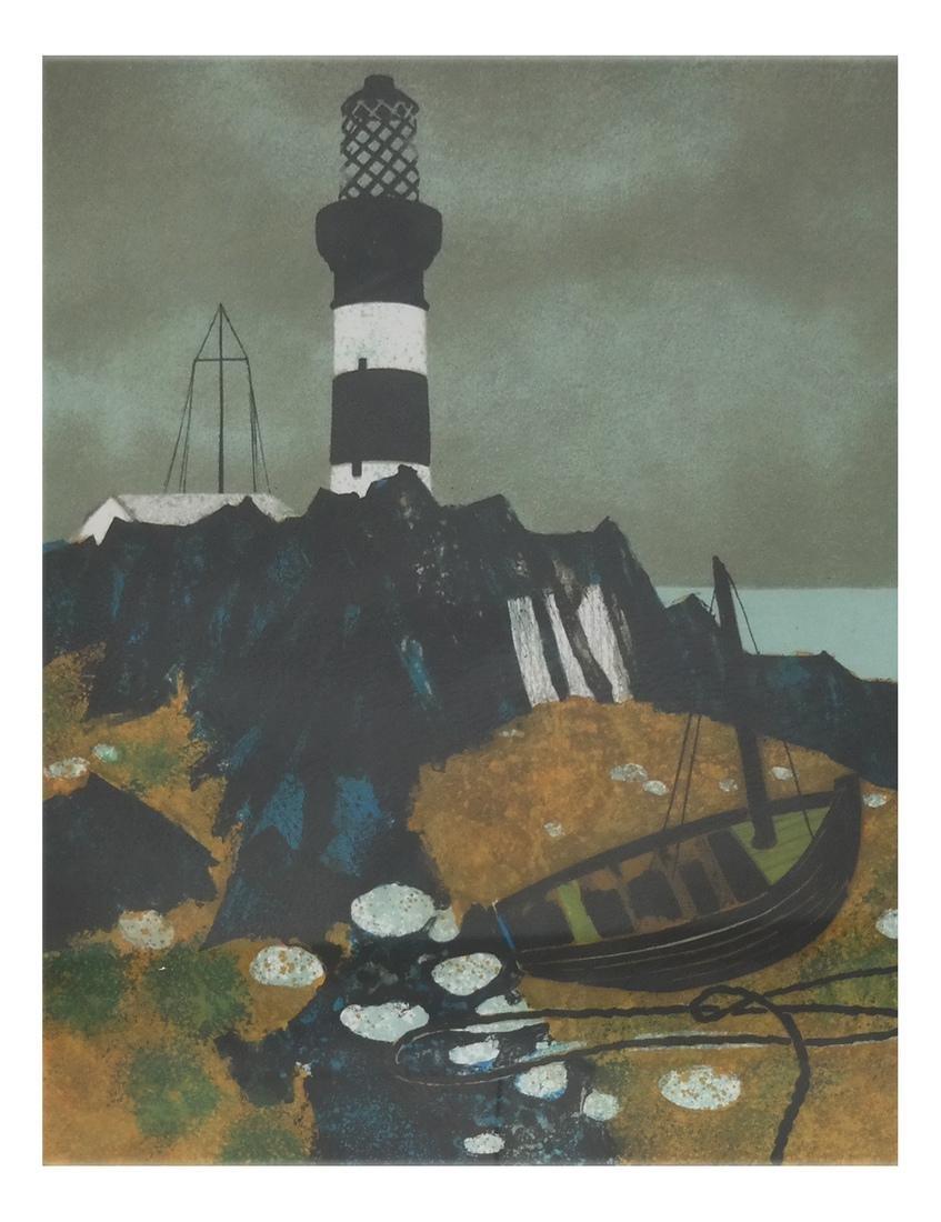 Yves Ganne Lighthouse - Lithograph