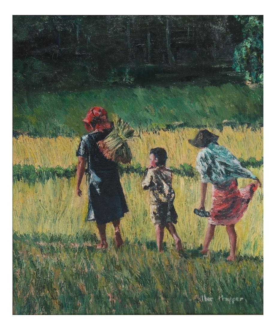 Esther Propper, Children - Oil on Canvas