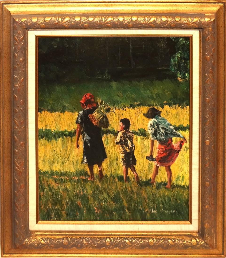 Esther Propper, Children - Oil on Canvas - 2