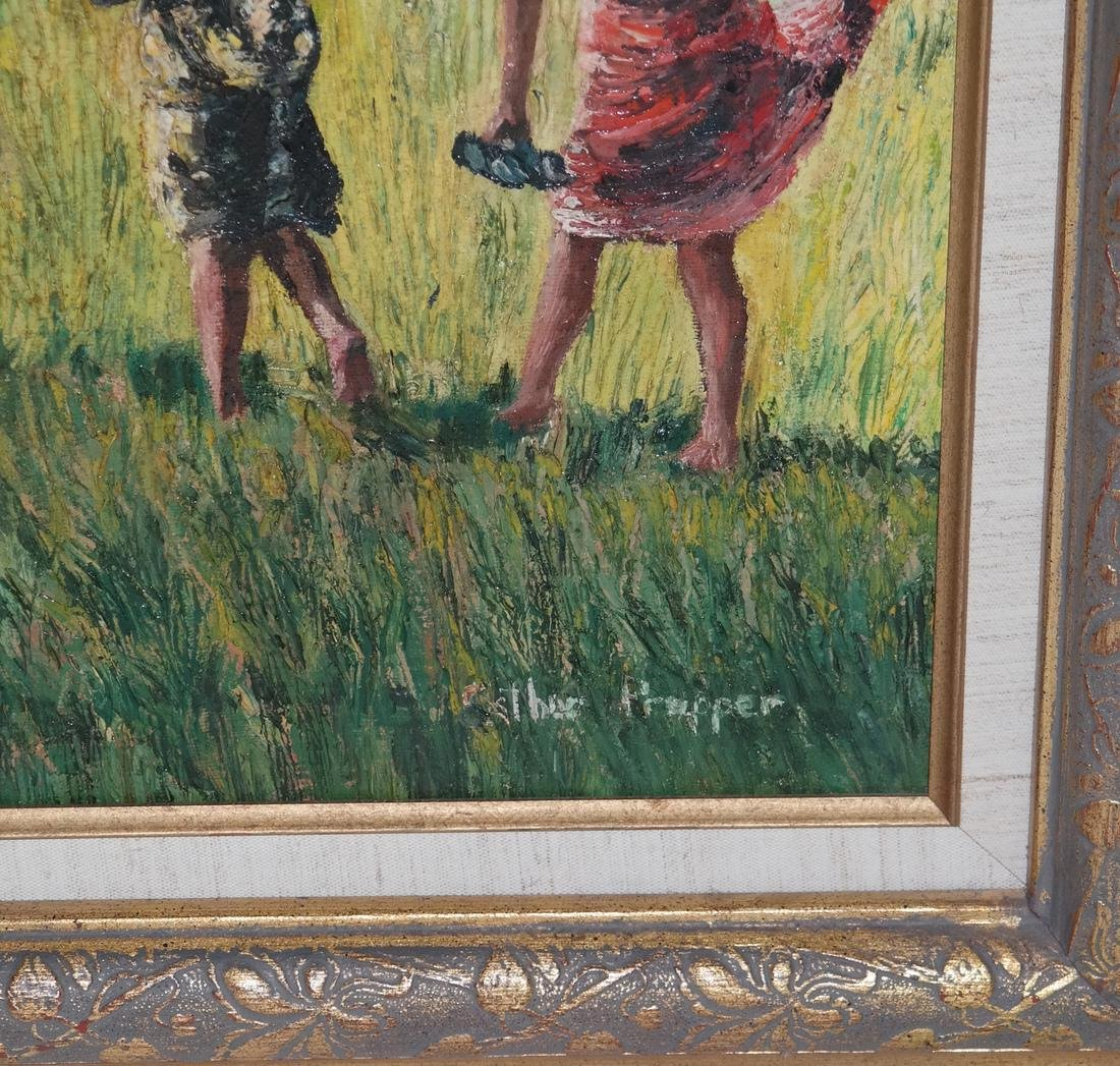 Esther Propper, Children - Oil on Canvas - 3
