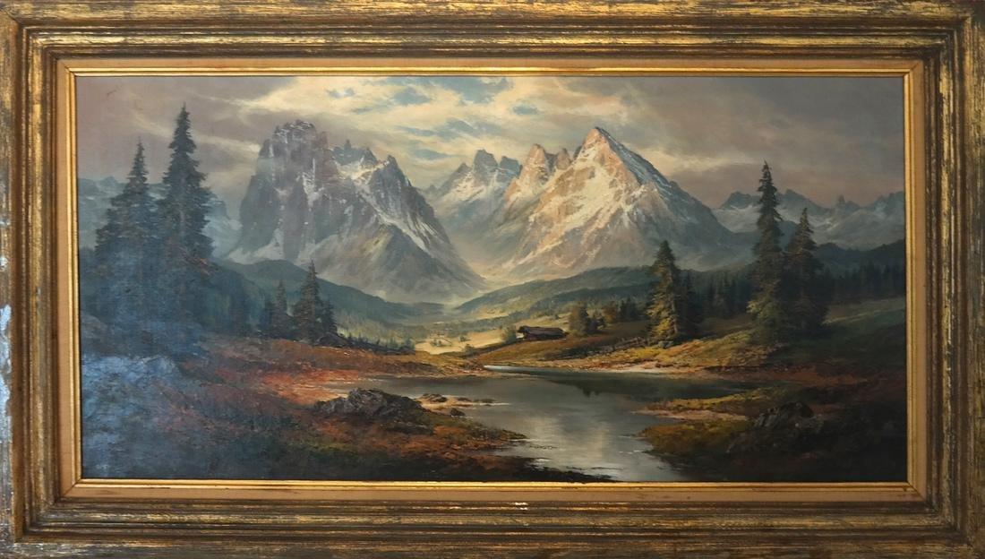 Mountain, River Landscape - O/C - 2