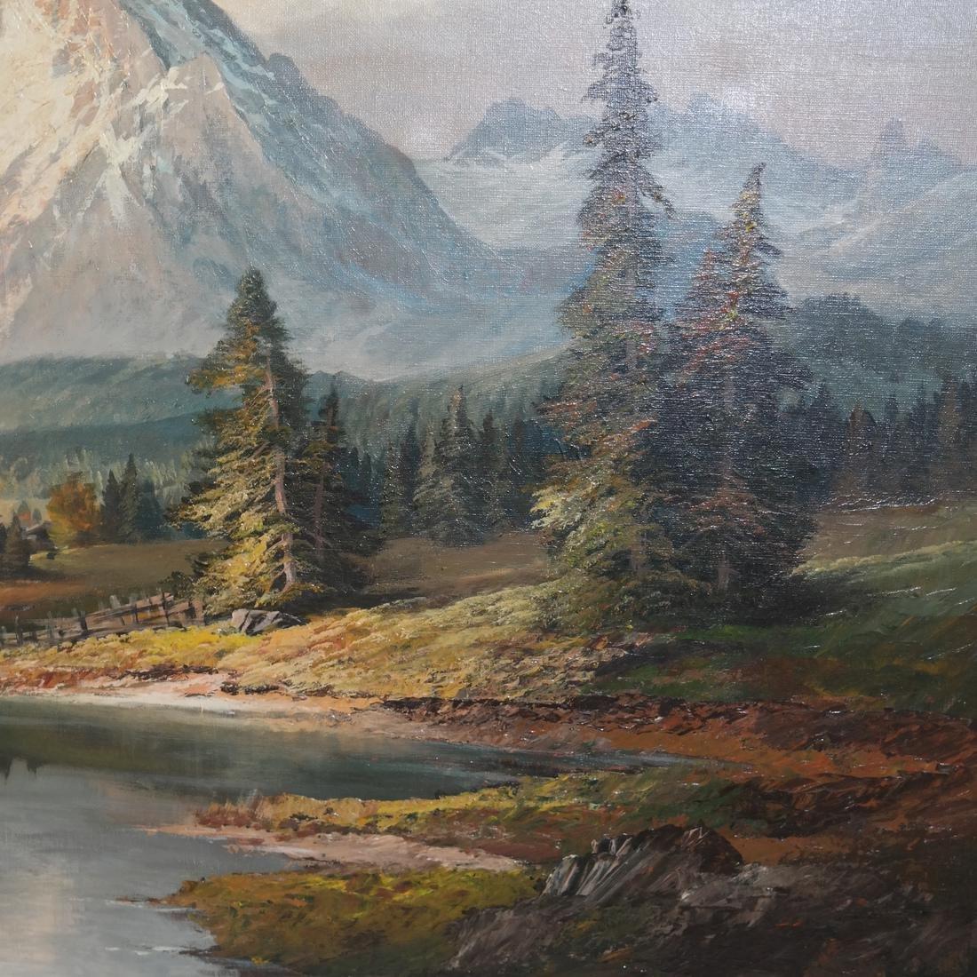 Mountain, River Landscape - O/C - 3
