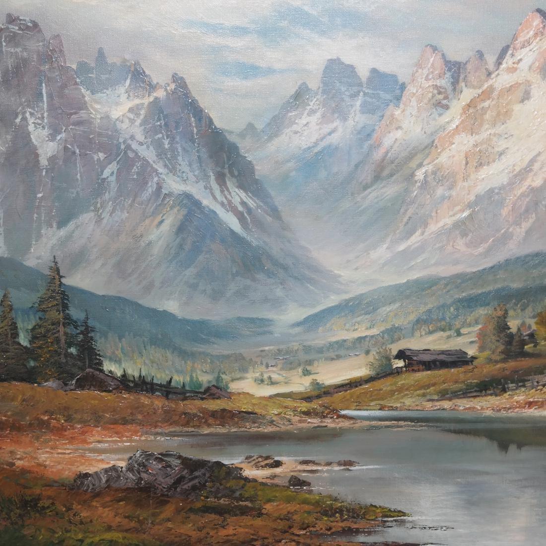 Mountain, River Landscape - O/C - 5