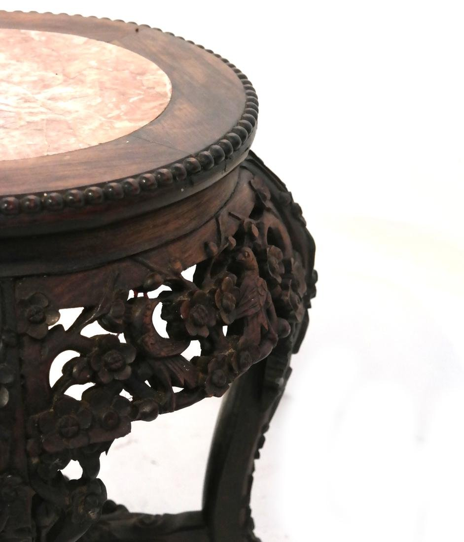 Chinese Carved Wood Tabouret - 3