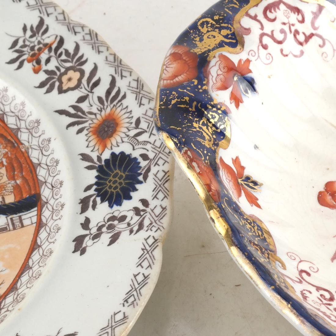Two English Decorated Dishes - 2