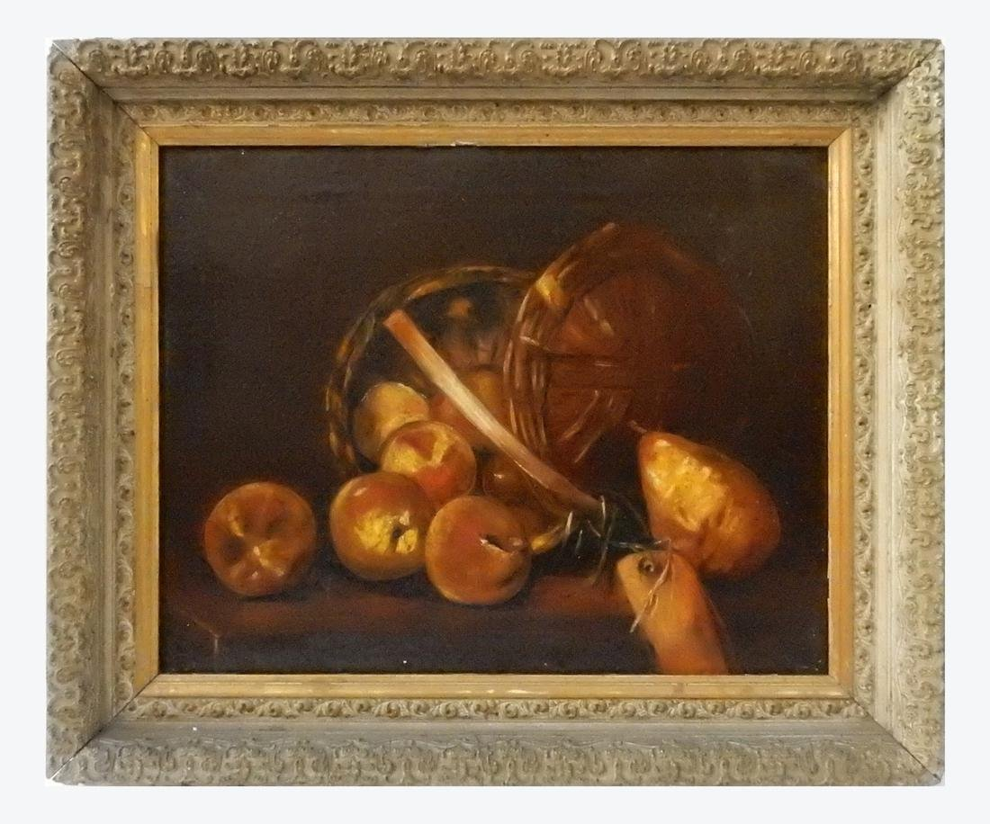 Still Life with Peaches and Pear