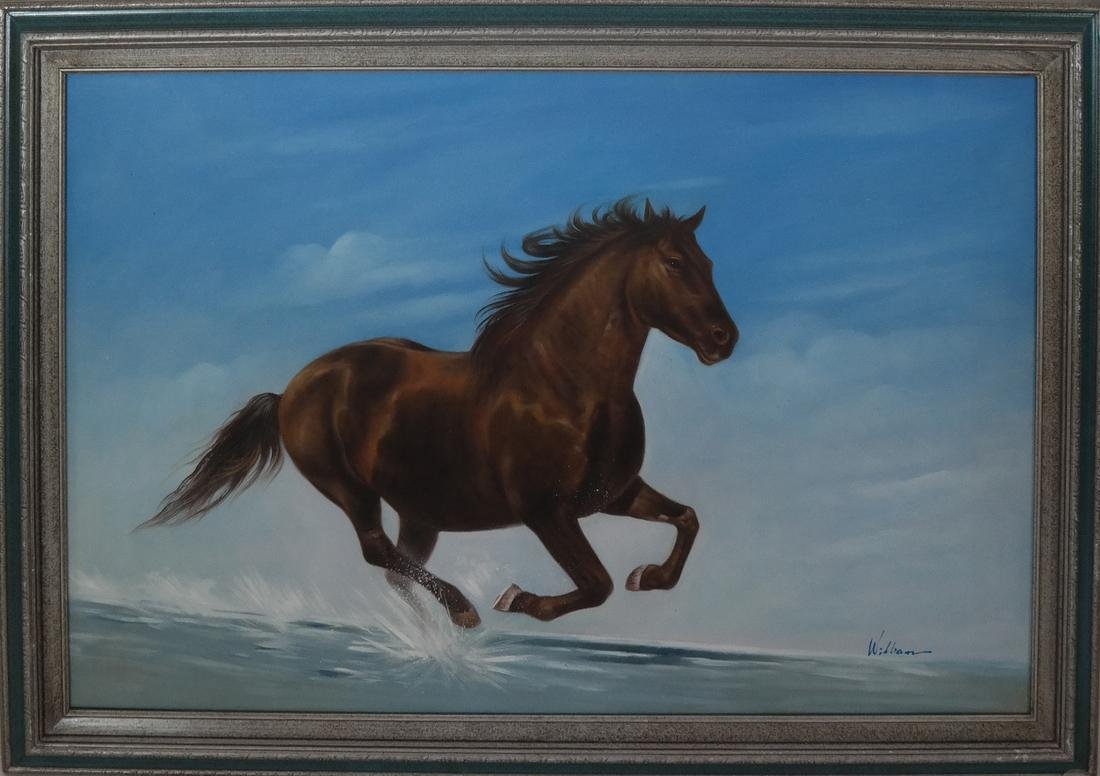Modern Oil on Canvas Painting of Horse - 2