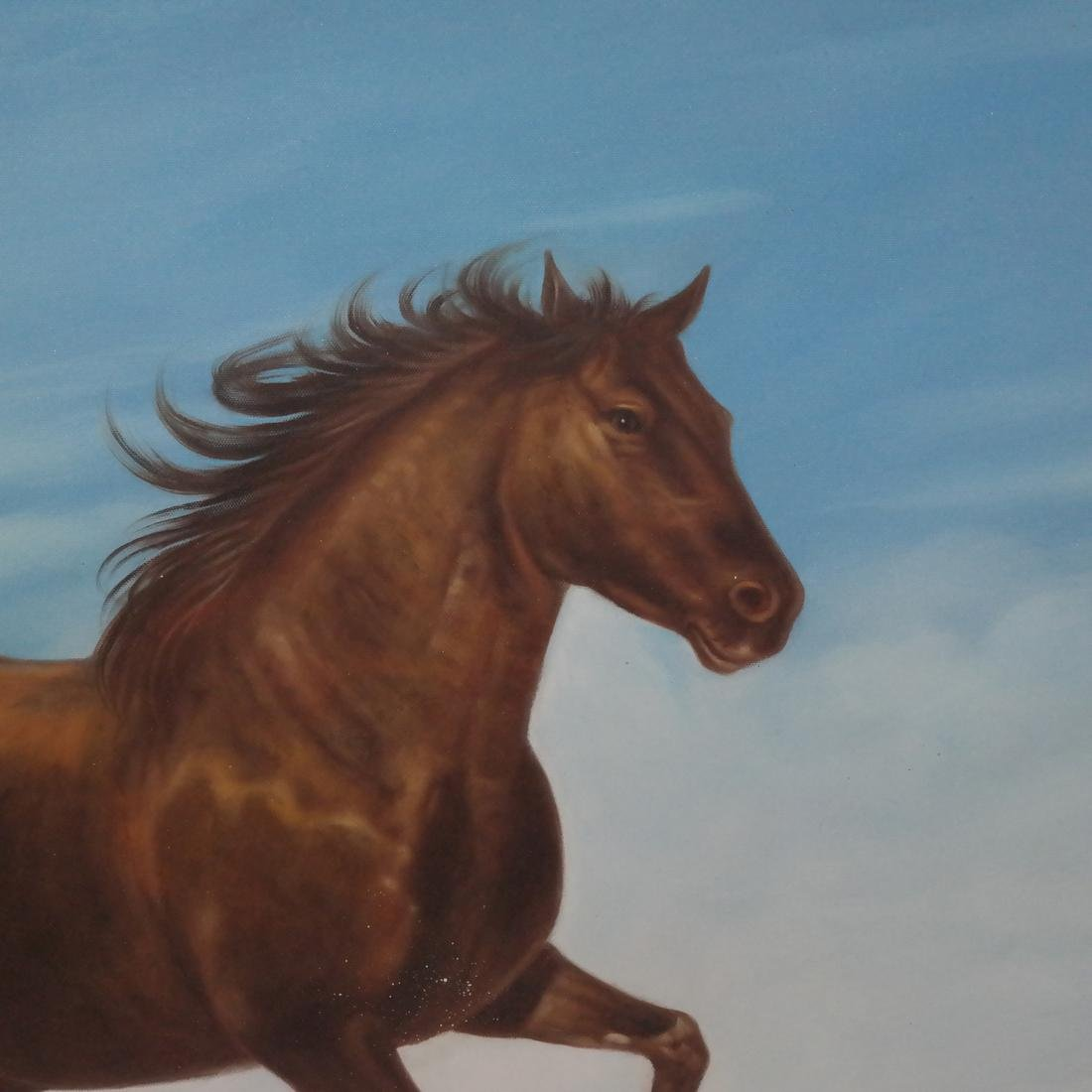 Modern Oil on Canvas Painting of Horse - 3